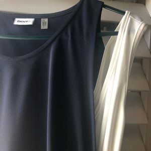 Double layer blue and white dress! peekaboo white